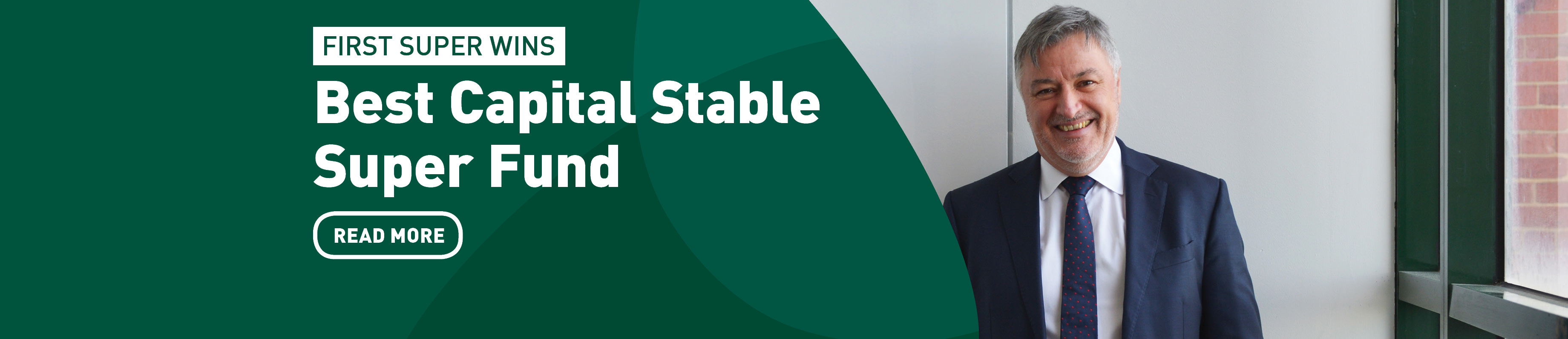 Homepage banner - best capital stable super fund - forest green
